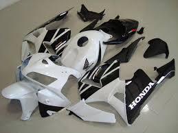 honda cbr600rr black motocc limited honda cbr600rr 05 06 white and black fairing kit