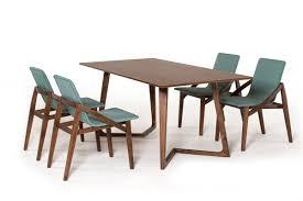 jett mid century walnut dining table