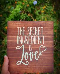 the secret ingredient is love mini wood sign home decor kitchen