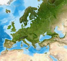 Europe Asia Map Europe Satellite Image Giclee Print Enhanced Physical