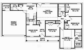 Double Wide Floor Plans With Photos by Bedroom New 4 Bedroom 2 Bath Floor Plans 4 Bedroom 2 Bath Ranch