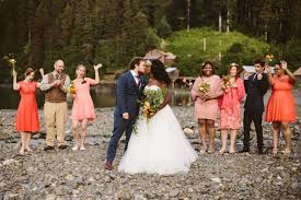 small wedding intimate wedding in the alaskan wilderness green wedding shoes