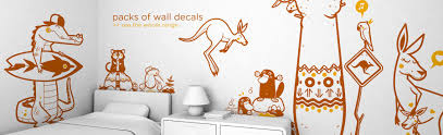 kids wall decals wallpapers and decor accessories by the brand e glue packs of kids wall decals