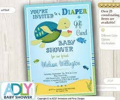 gift card shower invitation turtle gift card baby shower invitation for boy shower