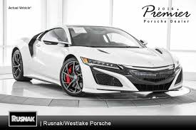 used 2017 acura nsx los angeles stock p6060