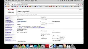 how to add email addresses to address book of sharp copier youtube