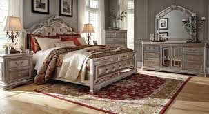 european style bedroom furniture set upholstered headboard luxury