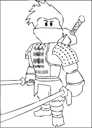 free printable roblox ninja coloring kids