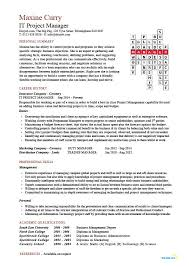 Resume Of Manager Project Manager by It Project Manager Cv Template Project Management Prince2 Cv