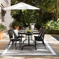 Granite Top Bistro Table La Coupole Outdoor Dining Table Rectangular Black Granite Top