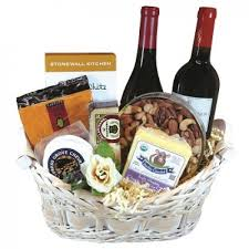 Wine And Cheese Basket And Cheese Gift Basket With 2 Bottles Of Wine 85