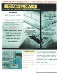 channel drain channel cove u0026 drain board accurate basement repair