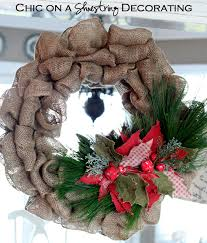 Homemade Christmas Wreaths by Diy Burlap Christmas Wreath