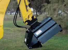 brush hound excavator mounted brush shredder