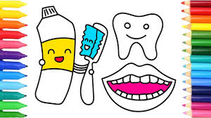 toothpaste toothbrush and teeth coloring pages children u0027s