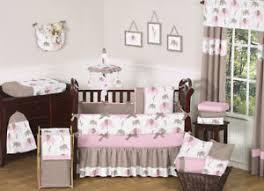 Pink Brown Crib Bedding Sweet Jojo Designs Modern Pink Brown Elephant Baby Cheap Crib
