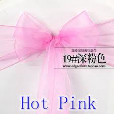 cheap chair sashes wholesale hot pink colour chair sashes organza sash wedding party