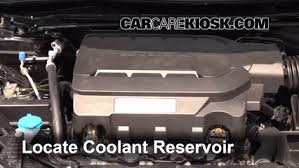 honda accord radiator fluid coolant level check 2013 2016 accord 2014 honda accord ex l 3 5
