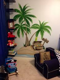 palm tree wall mural is easy to apply and remove and what a fun www muralsbywhitney com painted an incredible pirate themed mural for maddox s room
