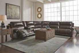 6 piece power reclining sectional with storage console u0026 armless