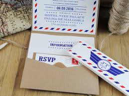 vintage travel u0027airmail u0027 wedding invitations wedding invitatio
