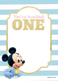 1st birthday invitations free printable templates gallery