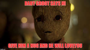 Awe Meme - image tagged in baby groot in awe imgflip