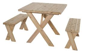 amazon com wooden picnic table american cross leg outdoor