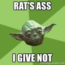Rats Ass Meme - rat s ass i give not advice yoda gives meme generator
