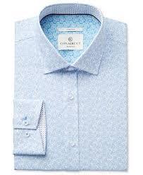 con struct men u0027s slim fit stretch light blue daisy print dress