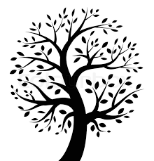 black tree icon vector illustration for your design stock