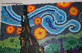 What Is A Mural by Art Room 104 Finished Bottle Cap Mural Starry Night And What I