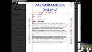 Business Letter Memorandum Example Business Letters Memos And Letterheads Youtube