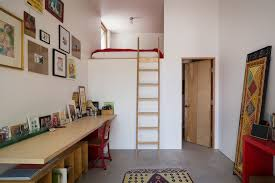 loft bed with closet underneath kids contemporary with bedroom