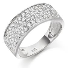 silver zirconia rings images Silver four row cubic zirconia ring 0004842 beaverbrooks the