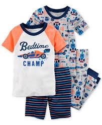 s 4 pc race car cotton pajama set baby boys pajamas