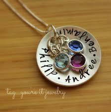 Children S Birthstone Necklace Kids Names Birthstone Necklace Sterling Silver Mothers Necklace
