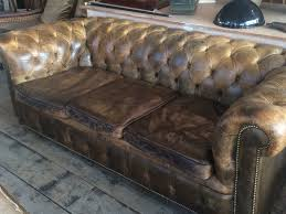 Leather Chesterfield Sofa by Vintage Chesterfield Sofa In Furniture
