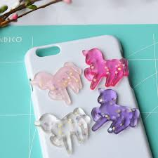 hair bow center aliexpress buy tanduzi 20pcs resin flatback unicorn