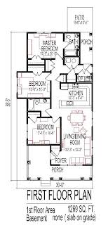 cottage floor plans small small 3 bedroom house floor plans design slab on grade easy home