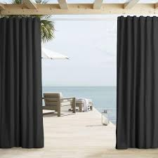 Black Outdoor Curtains Black Outdoor Curtain