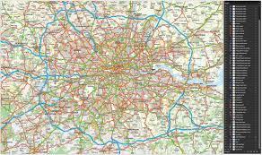 London Maps Map Of London Roads Deboomfotografie