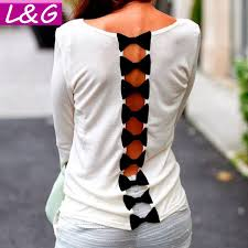 White Blouse With Black Bow Com Buy L U0026g Fashion 2015 Women Blouses Selling Casual White