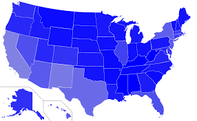 Map Of The Usa States by American English Wikipedia