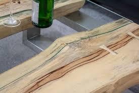 Wohnzimmertisch Holzstamm Design Couchtisch Serie
