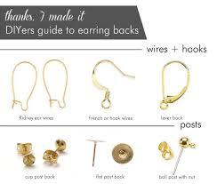 types of earring backs for pierced ears best 25 earring backs ideas on jewelry