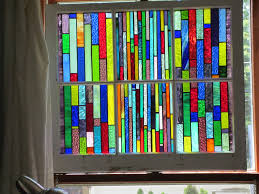 stained glass chicago bungalow 6 pane vintage window with