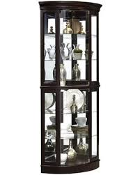 Curio Cabinet With Glass Doors Bargains On P021577 Corner Mirrored Curio Cabinet With