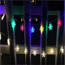 10m 50 led snowflake string lights new year