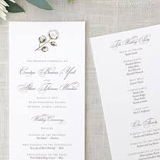 printed wedding programs cotton wedding programs paperwhites wedding invitations
